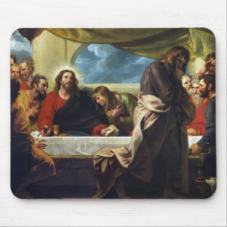 The Last Supper by Benjamin West Mouse Pad