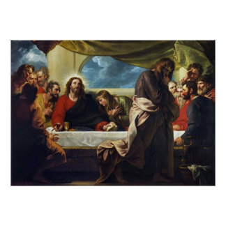 The Last Supper by Benjamin West Poster