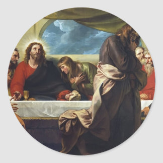 The Last Supper by Benjamin West Classic Round Sticker