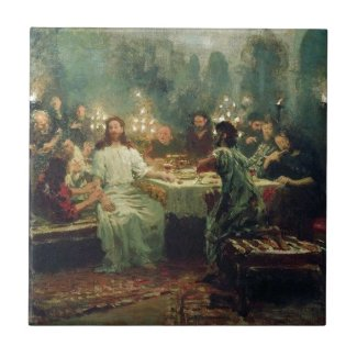 The Last Supper by Ilya Repin Ceramic Tile