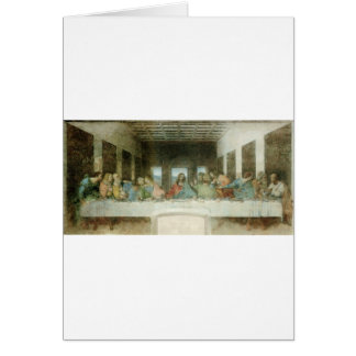 The Last Supper by Leonardo Da Vinci c. 1495-1498 Card
