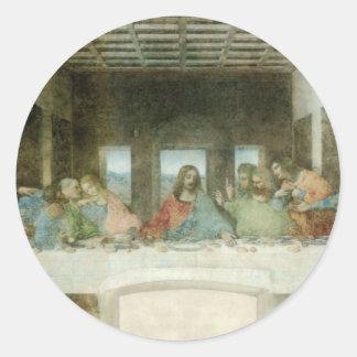 The Last Supper by Leonardo Da Vinci c 1495-1498 Round Sticker