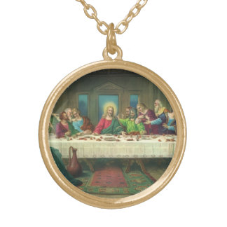 The Last Supper by Leonardo da Vinci Gold Plated Necklace