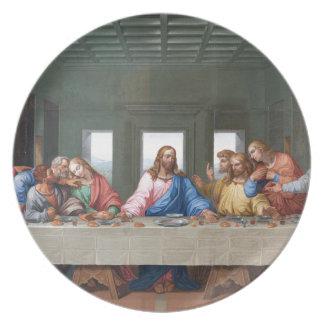 The Last Supper by Leonardo da Vinci Melamine Plate