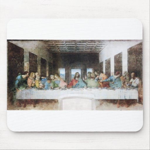 The Last Supper by Leonardo Da Vinci Mouse Pads