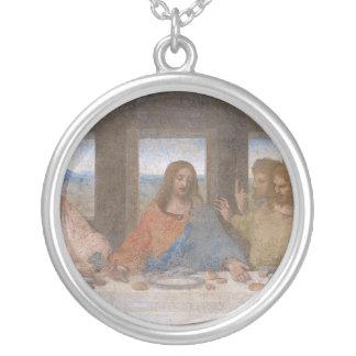 The Last Supper by Leonardo Da Vinci Round Pendant Necklace