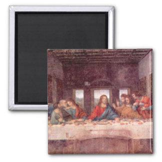 The Last Supper by Leonardo da Vinci, Renaissance 2 Inch Square Magnet