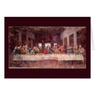 The Last Supper by Leonardo da Vinci, Renaissance Card