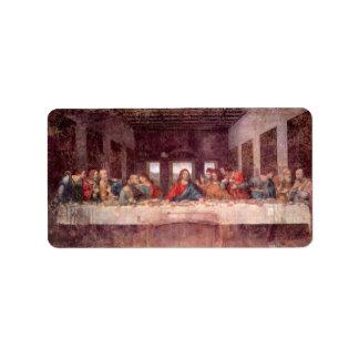 The Last Supper by Leonardo da Vinci, Renaissance Address Label