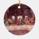 The Last Supper by Leonardo da Vinci, Renaissance Double-Sided Ceramic Round Christmas Ornament