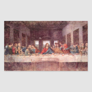 The Last Supper by Leonardo da Vinci, Renaissance Rectangular Sticker