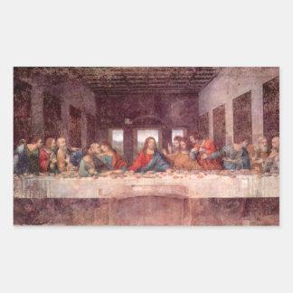 The Last Supper by Leonardo da Vinci, Renaissance Rectangular Sticker