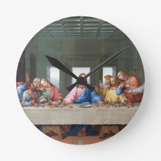 The Last Supper by Leonardo da Vinci Round Clock