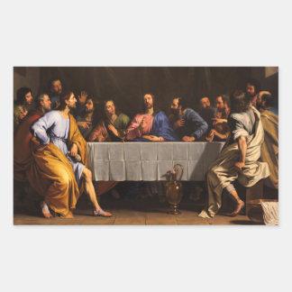 The Last Supper by Philippe de Champaigne (1648) Rectangular Sticker