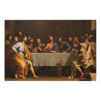 The Last Supper by Philippe de Champaigne (1648) Wood Wall Art