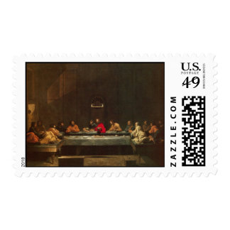 The Last Supper by Poussin Postage Stamp