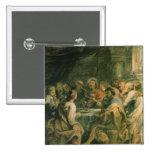 The Last Supper, c.1630-31 2 Inch Square Button