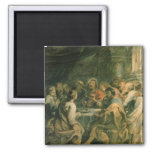 The Last Supper, c.1630-31 2 Inch Square Magnet