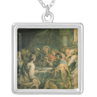 The Last Supper, c.1630-31 Silver Plated Necklace