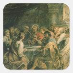 The Last Supper, c.1630-31 Square Sticker