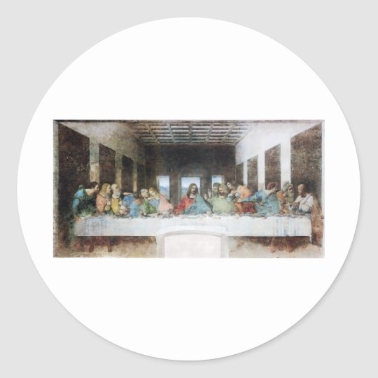 The Last Supper Classic Round Sticker