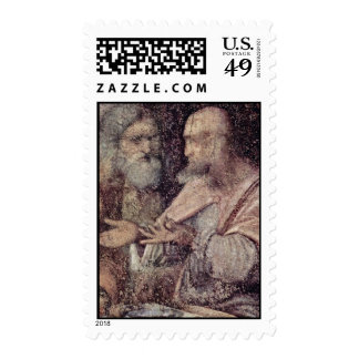 The Last Supper Detail By Leonardo Da Vinci Best Stamp