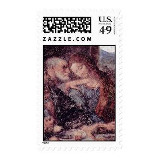 The Last Supper Detail By Leonardo Da Vinci Postage Stamps