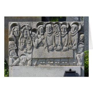 The Last Supper Gravestone Card