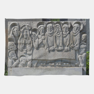 The Last Supper Gravestone Hand Towels