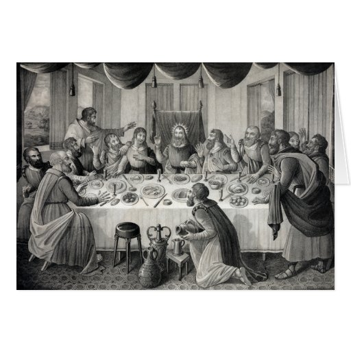 """""""The Last Supper"""" greeting card"""