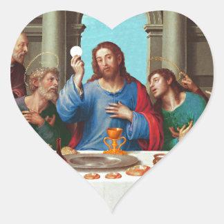 The last supper heart sticker