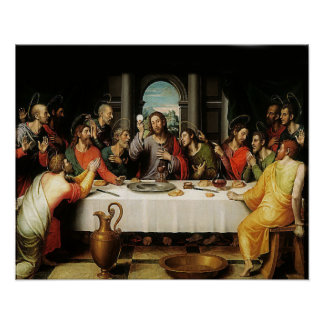 The Last Supper - La Ultima Cena - First Eucharist Poster