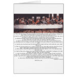 The Last Supper - Matthew 26:17-30 Greeting Card