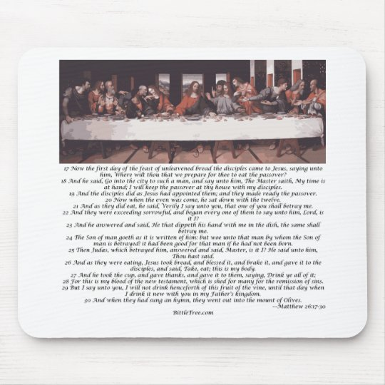The Last Supper - Matthew 26:17-30 Mouse Pad
