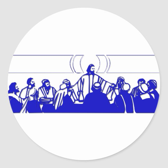 The Last Supper on Holy Thursday Classic Round Sticker