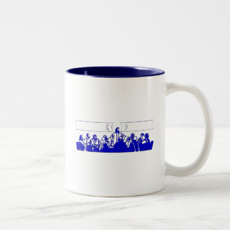 The Last Supper on Holy Thursday Two-Tone Coffee Mug