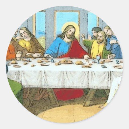 the_Last_Supper Pegatina Redonda