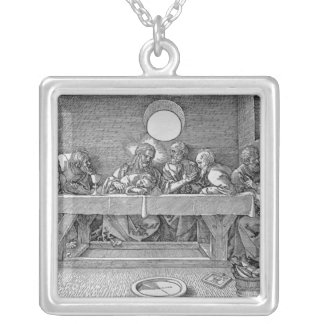 The Last Supper, pub. 1523 Silver Plated Necklace