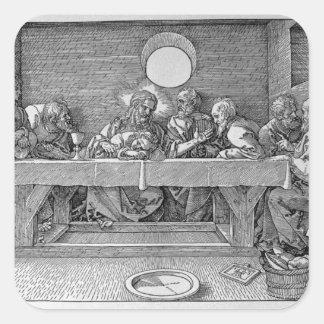The Last Supper, pub. 1523 Square Stickers