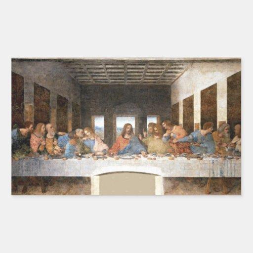"""The Last Supper"" Rectangular Sticker"