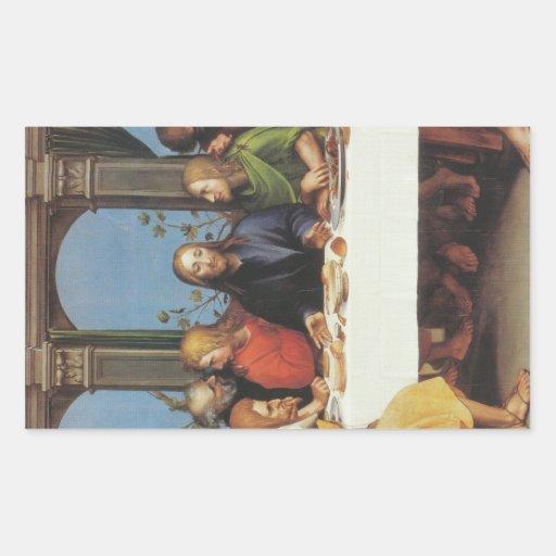 'The Last Supper' Rectangular Sticker