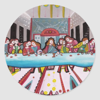 The Last Supper Round Stickers