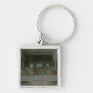 The Last Supper Vintage Silver-Colored Square Keychain
