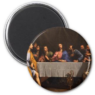 The Last Supper with Disciples 2 Inch Round Magnet