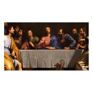 The Last Supper with Disciples Business Card