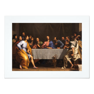 The Last Supper with Disciples Card