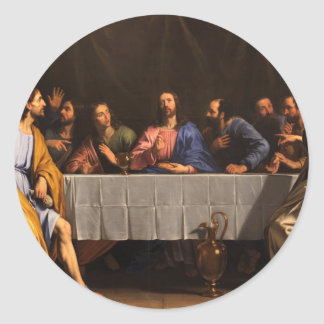The Last Supper with Disciples Classic Round Sticker