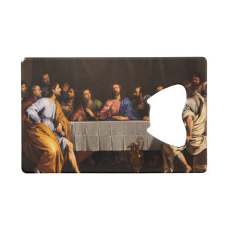 The Last Supper with Disciples Credit Card Bottle Opener