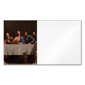 The Last Supper with Disciples Magnetic Business Card
