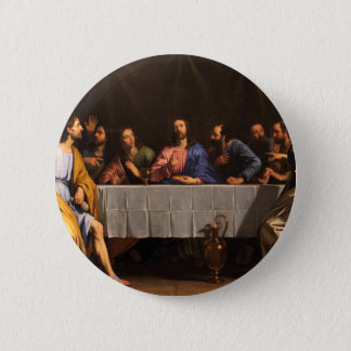 The Last Supper with Disciples Pinback Button
